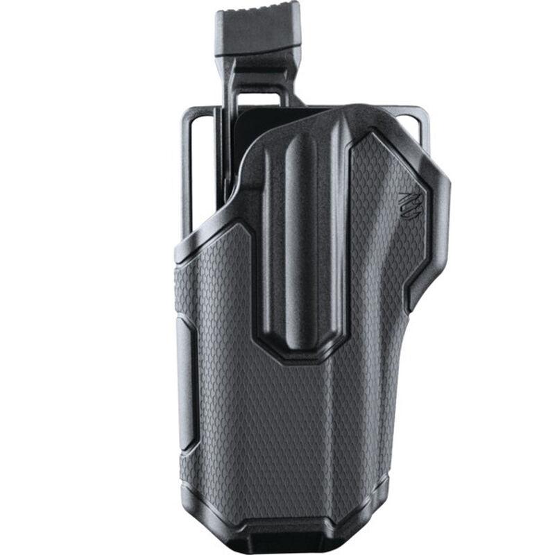BLACKHAWK! Omnivore Multi fit Holster for Most Handguns with Rails Left  Hand Level 2 Retention Grey/Black