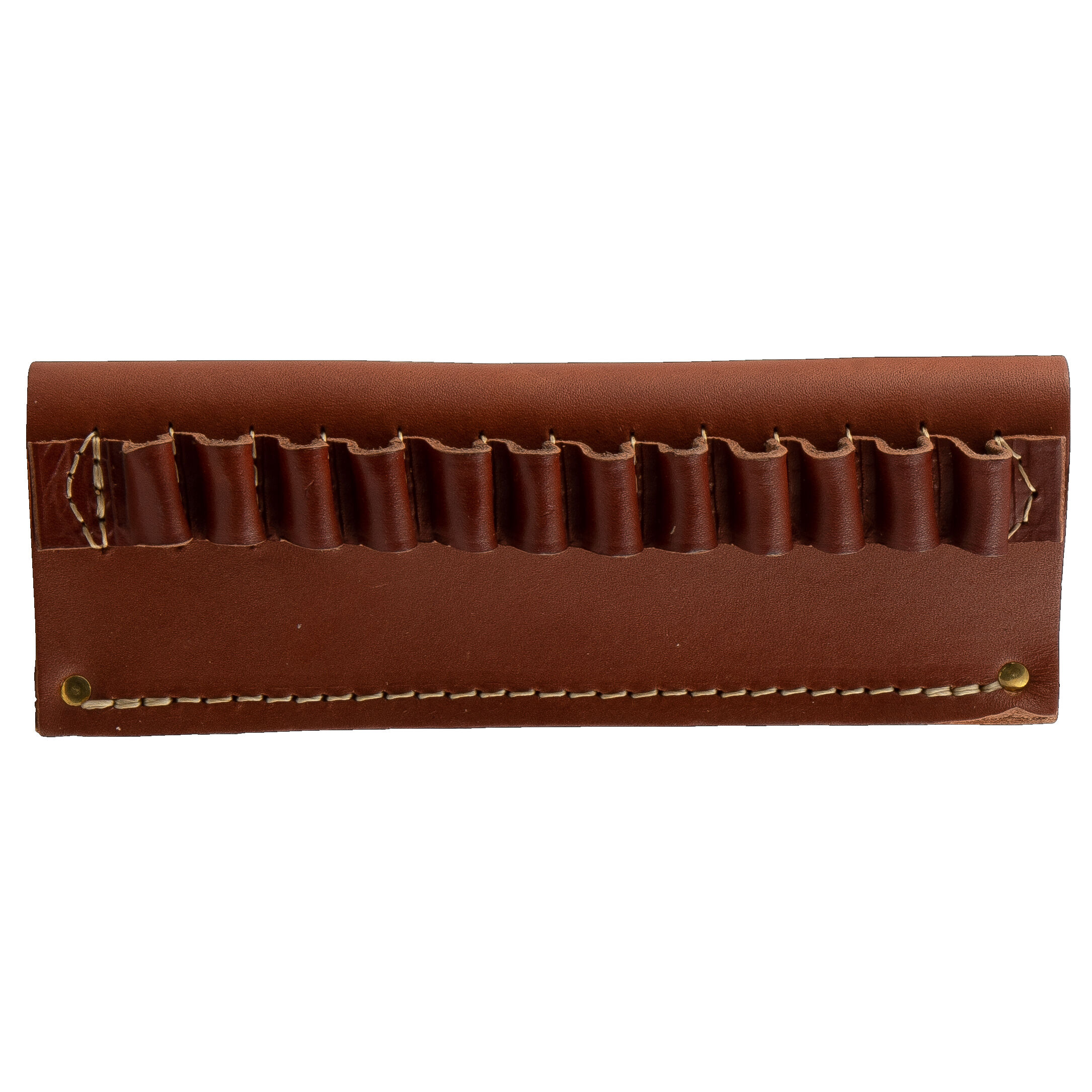 / 380 ACP. / 357 MG 20 ROUNDS LEATHER SHELL HOLDER FIT.38 SPL / 9 MM