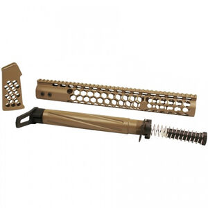 GunTec AR-15 Honeycomb Series Complete Furniture Set FDE