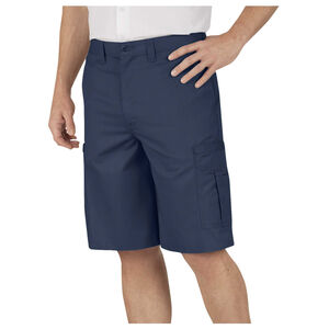 Dickies Men's Industrial Flat Front Shorts Polyester / Cotton Waist 36 Navy LR542