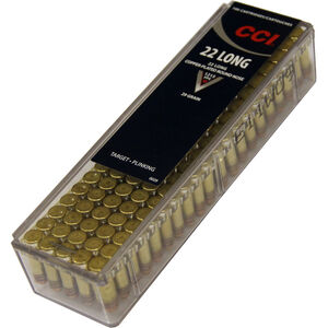 CCI .22 Long Ammunition 5,000 Rounds Copper Plated RN 29 Grain 1,215 Feet Per Second