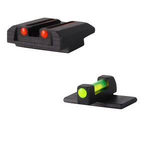 Williams Fire Sight Set Taurus 1911 Models Fiber Optic Sights Non-Adjustable Fixed Sights Red/Green Aluminum Matte Black 70947