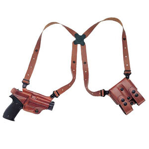 Galco Miami Classic Browning Hi-Power Shoulder Holster System Right Hand Leather Tan MC270
