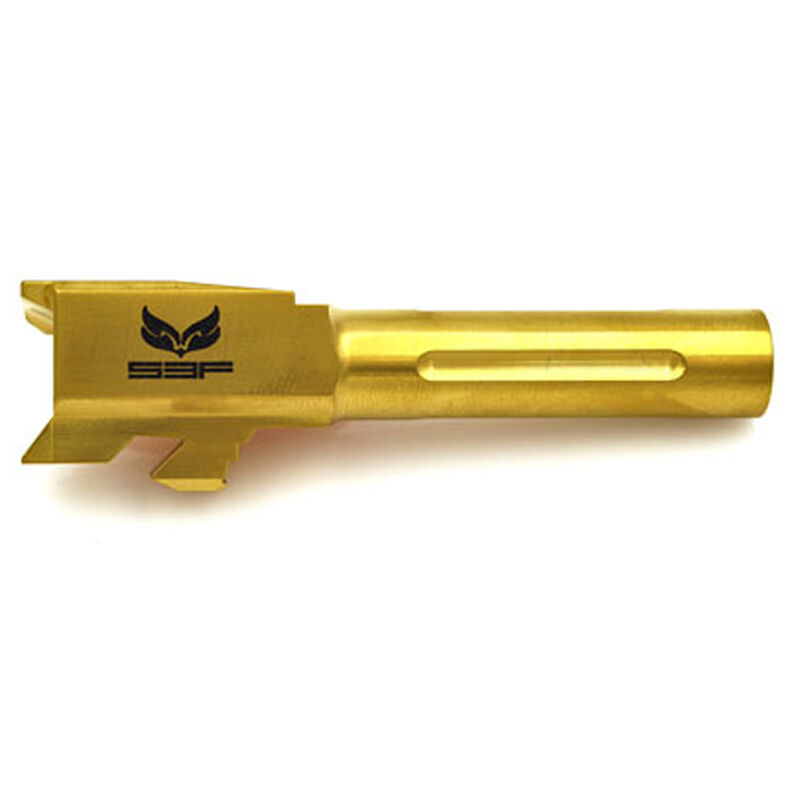 S3F Barrel for GLOCK 43 Fluted Match-Grade Drop-In, TiN Finish