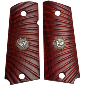 Wilson Combat 1911 Compact Officer Grips with Starburst Pattern Ambidextrous Cocobolo 351MCP