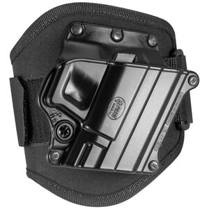 Fobus Ankle Holster HK P2000/Springfield XD/Taurus Right Hand Draw Polymer Shell/Cordura Pad with Velcro Strap Matte Black Finish