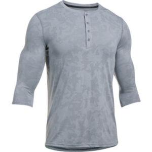 Under Armour Threadborne Utility Henly Men's Long Sleeve Shirt Size Large Bayou Blue/Graphite