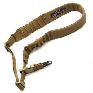 Blue Force Gear UDC Padded Bungee Single-Point Sling w/ Snap Hook, Nylon/Elastic, Coyote Brown