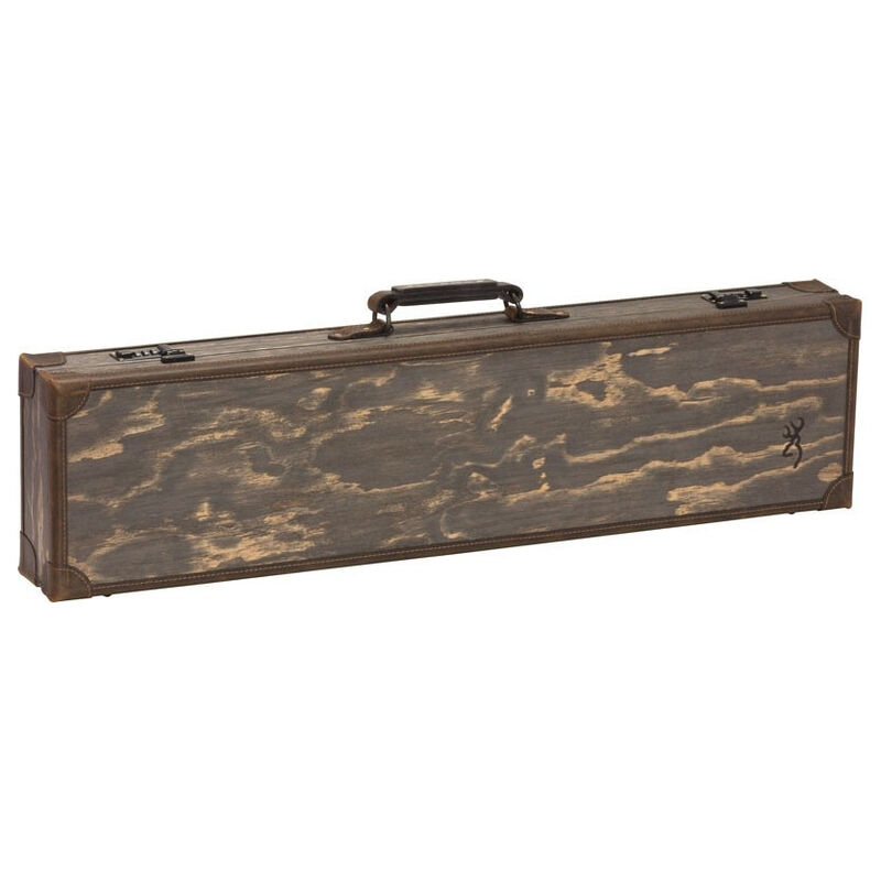 "Browning Classic Fitted Wood Takedown Case 32"" Barrel Length Dark Madera Wood Grain"
