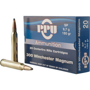 Prvi Partizan PPU Standard .300 Win Mag Ammunition 20 Rounds 150 Grain SP 3250fps