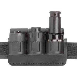 """Safariland 333 Triple Speedloader Holder S&W L-Frame 1.75"""" Belt Plain Black 333-3-2-175"""