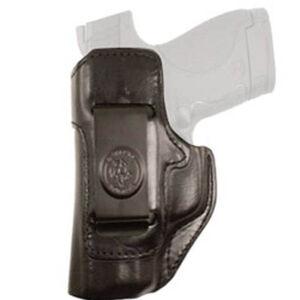 DeSantis Gunhide Inside Heat IWB Holster For GLOCK 43 Left Hand Leather Black 127BB8BZ0