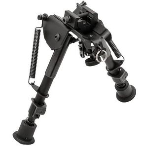 "TRUGLO Tac-Pod Adjustable Bipod 9"" to 13"" with Adapter Aluminum Black TG8902S"