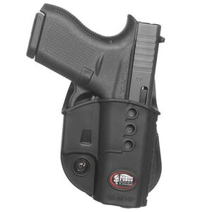Fobus Evolution Holster Glock 42/Kimber Micro 9 Right Hand Belt Attachment Polymer Black