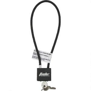"Firearm Safety Device Company Keyed 15"" Gun Cable Lock Blk"
