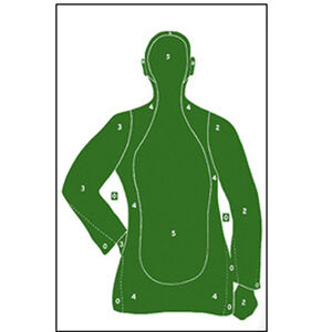 "Action Target B-21 Qualification Target 25 Yard 23"" x 35"" Paper Green 100 Pack"