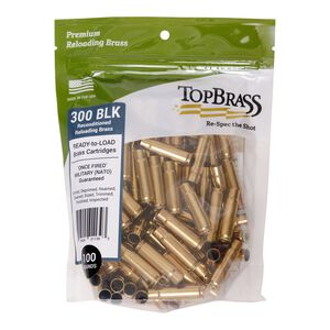 Top Brass .300 Blackout Reconditioned Brass 100 Count Bag