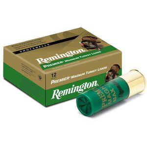 "Remington Premier Magnum Turkey 12 Gauge Ammunition 10 Rounds 3.5"" #4 Plated Lead 2 Ounces 26847"