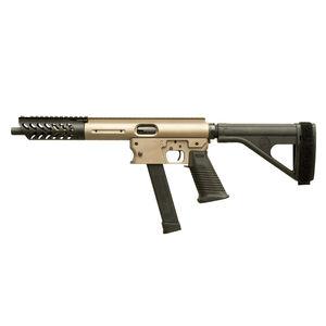 "TNW Aero Survival Pistol .40 S&W Semi Auto Pistol 10.25"" Barrel 22 Rounds GLOCK Style Magazine Extended Hand Guard SB Tactical Pistol Brace Flat Dark Earth"