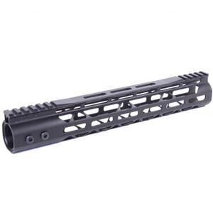 "Guntec USA AR-15 12"" MOD LITE Skeletonized Series M-LOK Free Floating Handguard with Monolithic Top Rail Aluminum Anodized Black"