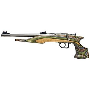 "Chipmunk Hunter Bolt Action Pistol .22 LR 10.5"" Barrel Single Shot Camo Laminate Stock Stainless Steel"