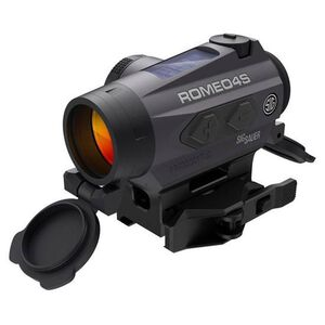 SIG Sauer Romeo4S Red Dot Optic 2 MOA Red Dot Ballistic Circle Dot Low Mount .50 MOA Adjustment Unlimited Eye Relief CR2032 Battery Graphite/Black