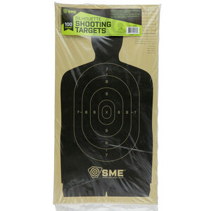 """SME Silhouette Targets 11.5""""x22"""" Black 100 Pack"""