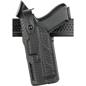 Safariland 7360 7TS ALS/SLS Mid-Ride Duty Holster Left Hand for GLOCK 17 and 34 with Light, Black SafariSeven Basket Weave