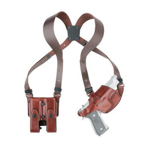 Aker Leather 101 Comfort-Flex Colt 1911 Shoulder Holster with Mag Pouch Right Hand Leather Plain Tan H101TPRU-CO1911