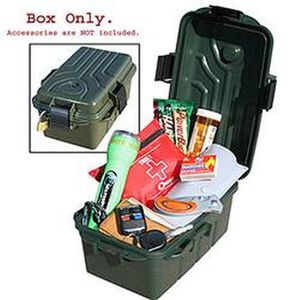 "Survivor Dry Box Forest Green MTM Case-Gard Plastic Lockable 9.8x6.8x3"" Snap Lock Latch Compass O-Ring Seal"