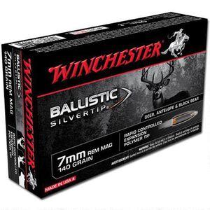 Winchester 7mm Remington Magnum Ammunition 200 Rounds Silvertip BST 140 Grains