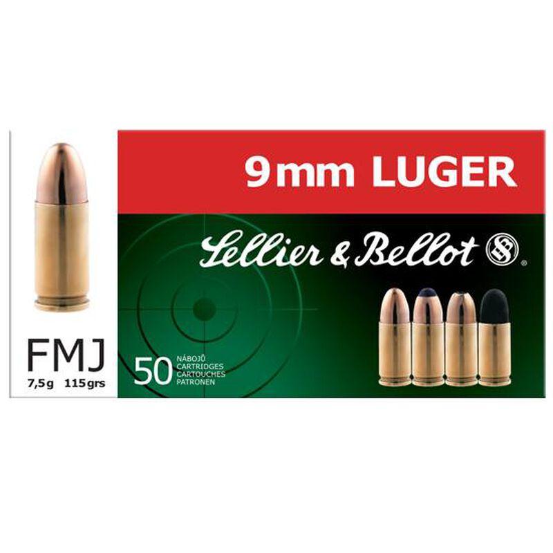 Sellier & Bellot 9mm Luger Ammunition 115 Grain Full Metal Jacket 1280fps