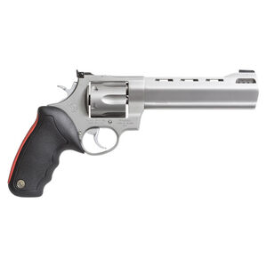 "Taurus Raging Bull 444 Double Action Revolver .44 Magnum 6.5"" Ported Barrel 6 Rounds Fixed Front Sight/Adjustable Rear Sight Rubber Grip Matte Stainless Steel Finish"