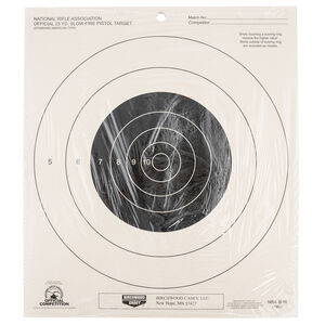 Birchwood Casey NRA 25 YD. Slow-Fire Pistol Target Bullseye Hanging Paper 25 Per Pack