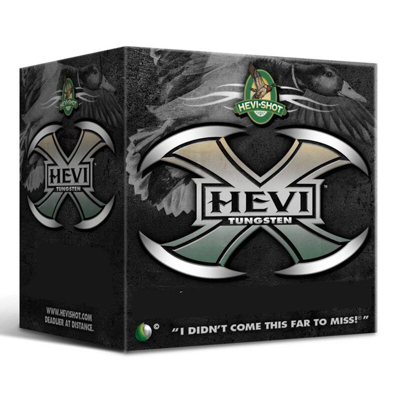 "Hevi-Shot Hevi-X 12 Gauge Ammunition 25 Rounds 2-3/4"" #2 1-1/16oz Tungsten Lead Free Shot 1400fps"