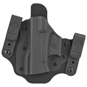 DeSantis Intruder 2.0 Holster IWB/OWB Fits Glock 17,19,19X,20,21,22,23 Left Hand Kydex Black