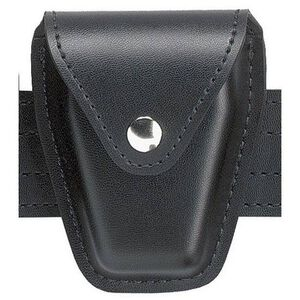 Safariland Model 190 Handcuff Case Chain or Hinge Hidden Snap Plain Black