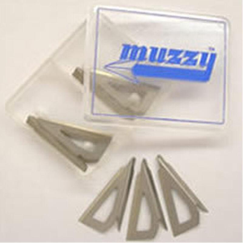 "Muzzy Broadheads Trocar 3 Replacement Blades 100/125 Grain 1-3/16"" Cut .035"" Diameter 9 Blades For 3 Complete Broadheads 308M"