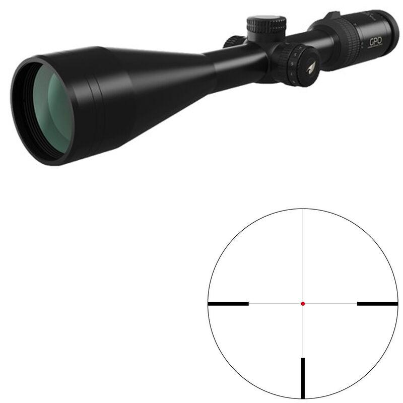 GPO Passion 6x 2.5-15x56 Riflescope German #4 Illuminated Reticle 30mm Tube .36 inch Adjustment Adjustable Parallax Second Focal Plane Black