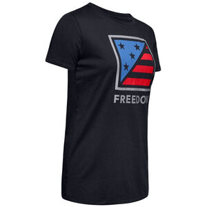 Under Armour Women's Freedom Folded Flag T-Shirt Small Cotton Blend White
