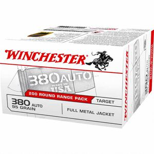 Winchester USA .380 ACP Ammunition 95 Grain FMJ 955 fps