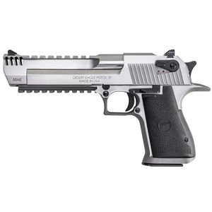 "Magnum Research Desert Eagle Mark XIX Semi Auto Pistol .44 Magnum 6"" Barrel 8 Rounds Fixed Combat Sights Weaver Accessory Rail/Picatinny Rail Natural SS Finish"