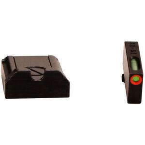 TRUGLO TFX Pro GLOCK Sight Set Green TFO Night Sights Orange Ring Adjustable Rear Sight Steel Black