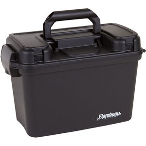 """Flambeau Tactical Dry Box With Storage Compartment in Lid, 13"""" x 6.5"""" x 8.25"""" Polymer Black"""