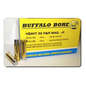 Buffalo Bore .32 H&R Magnum +P Ammunition 20 Rounds HC Keith SWC 130 Grains 36B/20