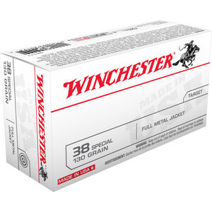 Winchester USA .38 Special Ammunition 50 Rounds FMJ 130 Grains Q4171