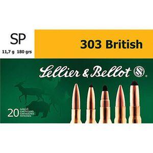 Sellier & Bellot .303 British Ammunition 20 Rounds, SP, 180 Grains