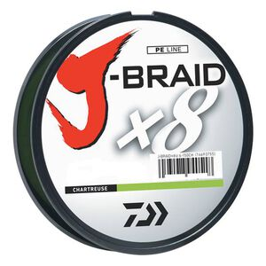 J-Braid Braided Line, 80 lbs Tested 330 Yards/300m Filler Spool, Chartreuse