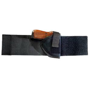 """Bulldog Cases Compact 2.5""""-3.75"""" Barrel Semi Autos Ankle Holster Right Hand Velcro and Elastic Black WANK 3R"""