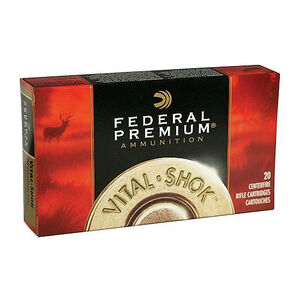 Ammo .270 WSM Federal Vital-Shok Barnes Triple Shock X 130 Grain Lead Free 3280 fps 20 Round Box